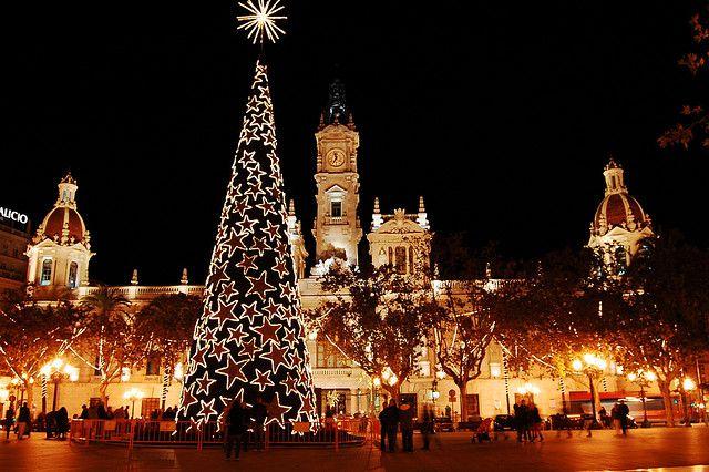 Ayuntamiento de Valencia en Navidad