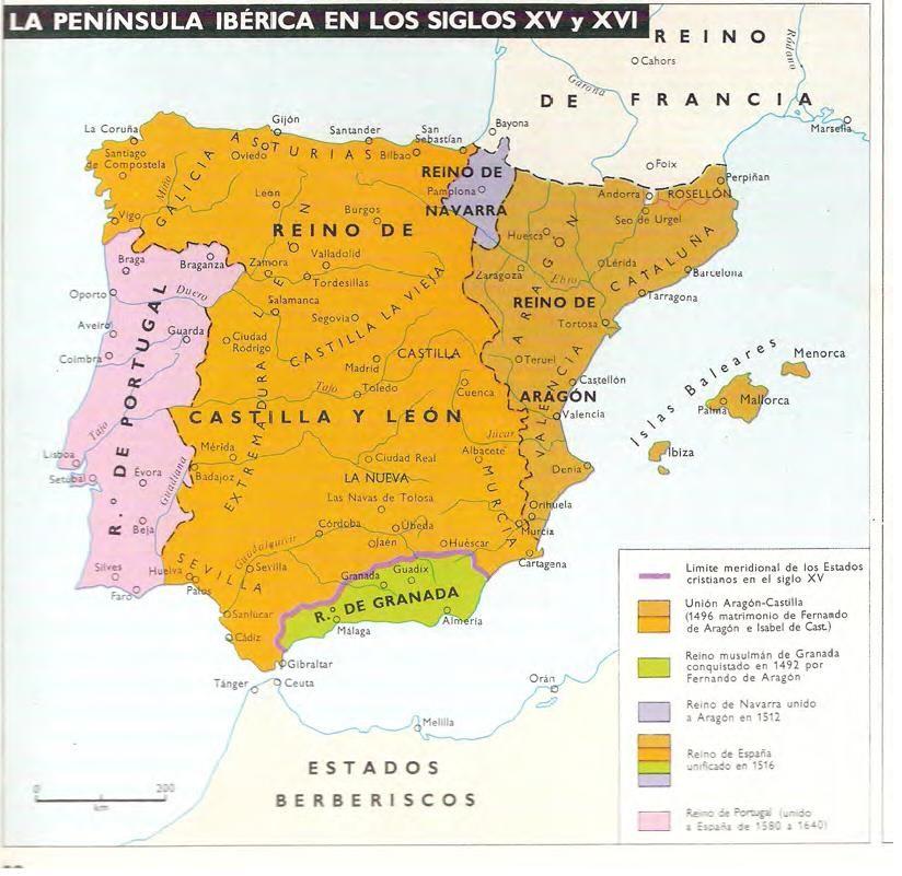 La Península Ibérica en los Siglos XV y XVI